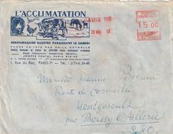 Enveloppe  L'Acclimatation ( Hebdomadaire Illustré ) Vaches Poules Chevaux - Agriculture