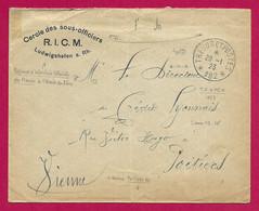 """Enveloppe Datée De 1923 - Armée Française Du Rhin - Oblitération """"Trésor Et Postes - Secteur Postal 192"""" - Zona Francesa"""