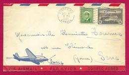 """Enveloppe """"Par Avion"""" Datée De 1949 - Voyagée De La Province De Québec Au Canada à Destination De Sens En France - Briefe U. Dokumente"""