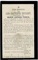 NAZARETH - Jan-Baptiste BEYAERT, Lid Kerkraad  - Wedn. M. TORCK - Overleden 1896 - Devotieprenten