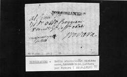 CG8 - Lettera Da Gozzano  Per Novara 22/9/1818 - Annullo Di Borgomanero - ...-1850 Préphilatélie