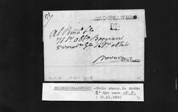 CG8 - Lettera Da Gozzano  Per Novara 21/10/1818 - Annullo Di Borgomanero - ...-1850 Préphilatélie