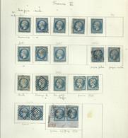 Feuille Avec Quelques Timbres Napoléon  14 ( Vi ) - 1853-1860 Napoleon III