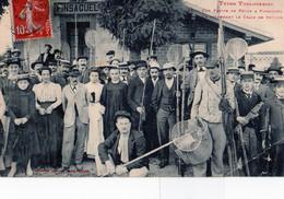 TOULOUSE: Types TOULOUSAINS-Une Partie De Peche à PINSAGUEL,en Attendant Le Train De Retouren 1910,tbon état - Toulouse