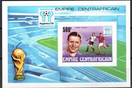 "Centrafrique Bloc YT 20 BF "" Coupe Du Monde De Football "" 1977 Neuf** - Central African Republic"