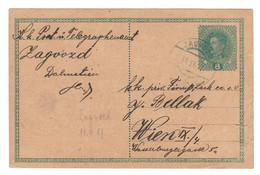 Austria, Zagvozd (Dalmatia - Croatia Region) To Vienna, Wien, 1917 Postcard - BLAUS - BL-203 - Sonstige