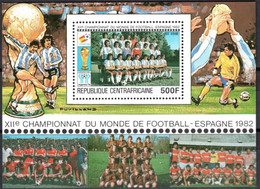 """Centrafrique Bloc YT 45 BF """" Coupe Monde Football Espagne  """" 1981 Neuf** - Central African Republic"""