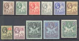 BARBADOS 1912 SG 170-180 * MOUNDED Mint Set MH VF. - Barbados (...-1966)