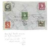 Par Avion/ Airmail Brux. 31.1.1936 Naar Argentine / Verso/achterzijde 290A  Affranch. 35,75 Fr  2 Ports Aérien=34 Fr - 1929-1941 Grand Montenez