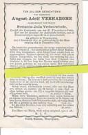 August Verhaeghe Echt Romania  Verbauwhede O Waregem 1841 + Waregem 1885 - Images Religieuses