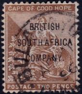✔️  BSAC Rhodesia 1896 - Overprint On COGH - Mi. 44 / SG60 (o) - £14 - Nordrhodesien (...-1963)