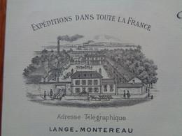 THEME BIERE - FACTURE MONTEREAU 1891- BRASSERIE BELLE & BONNE, MALTERIES D'ORGES DE CHAMPAGNE - E. LANGE R. - Beer