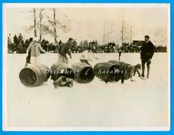 Chamonix 1928 * Gymkhana Enfants épreuve Des Tonneaux  * Photo Presse 16 X 21cm - Lugares