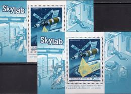 SKYLAB Ungarn Blöcke 101 **/o 10€ NASA-Raumlabor 1973 Raumschiff Bloque Hoja S/s Blocs Space M/s Sheets Bf Hungaria - USA