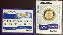 Uganda 2004 Rotary MNH - Uganda (1962-...)