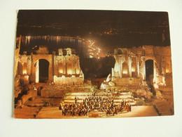 TAORMINA  THEATER    TEATRO THEATRE   Théâtre   POSTCARD  USED  CONDITHION PHOTO - Theatre