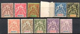 Moheli: Yvert N° 1/16*; Les 9 Et 12(*); 10 Valeurs - Neufs