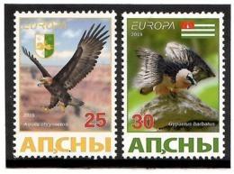 Georgia / Abkhazia  . EUROPA 2019. National Birds. (Arms,Flag) 2v :25,30 - Georgia