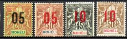 Moheli: Yvert N° 17/22*; Le 19(*); 4 Valeurs - Neufs