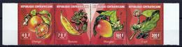 4 Timbres Neufs ** République Centrafricaine Fruits Différents - Obst & Früchte