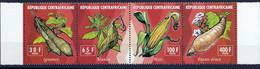 4 Timbres Neufs ** République Centrafricaine Légumes - Gemüse