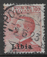 Italia Italy 1917 Colonie Libia Michetti Sinistra Effigie C60 Sa N.19 US - Libië
