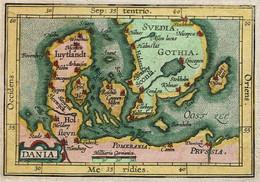 Petite Gravure - XIXe - Daniae Regnum - Dania - Denmark - Danemark - Voir Scans - Prints & Engravings