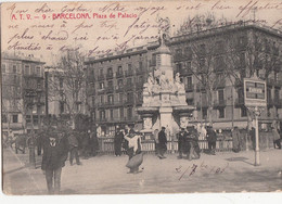 CPA   BARCELONE  Plaza De Palacio - Barcelona