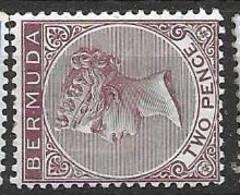 Bermuda CA Watermark 1883 Mh * 4.6 Euros - Other