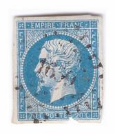 CANTAL : N°14 Oblitéré Petits Chiffres PC 1659 LASCELLE (Ind19). Planchage 37G1. - 1849-1876: Klassik