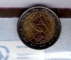 2018 Austria 100 Years Of Republic Of Austria 100 Jahre Republik Österreich 2 Euro Special Coin Used - Austria