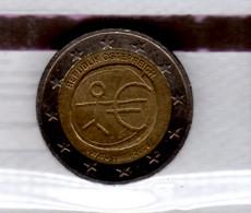2009 Austria Österreich  10 Years Of Euro Monetary Union 10 Jahre WWU EMU 2 Euro Special Coin UsedJoint Issue Of EU Euro - Austria