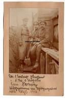 Aufgenommen Im Schützengraben Von Roye 1916, Militär, Leutnant, Feldwebel, Roye Somme, WW1, France - Krieg, Militär