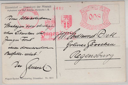 "DR - 8 Pfg. AFS ""Jugendhaus"", Karte Düsseldorf 10 - Regensburg 1930 - Zonder Classificatie"