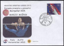 Croatia Zagreb 2015 / Croatian Sports Successes In 2015 / EC Montpellier Gymnastics Bar / Gold Marijo Moznik - Gymnastiek