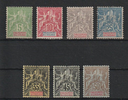 Oceanie - 1900 Serie Courante Allegorie * - Unused Stamps