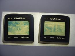 LOT Diapositive Photo Diapo Slide AU DIABLOTIN Rue Monge Dijon - Diapositivas
