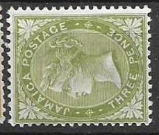 Jamaika Mh * Multiple CA Watermark 4 Euros 1886 - Jamaica (...-1961)