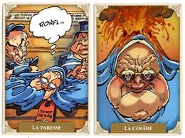 MAËSTER - SOLE - Les 7 Péchés Capitaux - Soeur Marie-Thérèses - 7 Cartes Promotionnelles   - Voir Scans - Cómics