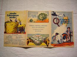 Joli Dépliant Pub Illustré Cigogne Pour La Potasse Engrais Mulhouse Alsace - Publicités