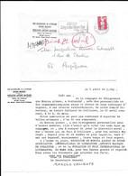 1990 COLLIOURE - MANOLO VALIENTE - ENTETE MAIRIE FONDATION ANTONIO MACHADO POUR PERPIGNAN - COPIE TAPUSCRIT - Historical Documents