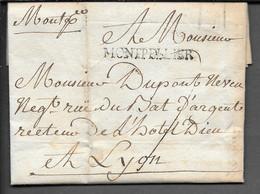 LETTRE AVEC MARQUE POSTALE MONTPELLIER 1787 - 1701-1800: Precursores XVIII