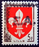Algérie Algeria 1962 Blason De Lille Coat Of Arms Yvert 1186 ** MNH Surcharge Rocher Noir E.A. Overprinted - Unused Stamps