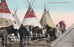 A PEIGEN INDIAN ENCAAMPMENT ,JOLI PLAN COULEUR    REF 69764 - Indiaans (Noord-Amerikaans)