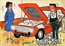 """►  Humour Automobile Garagiste Par Illustrateur ALEXANDRE """" C'est Grave ? """" Série VOITURES 455 - Alexandre"""