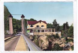 CPSM.  15 X 10,5  -  Pont De L'Abîme Sur Le Chéran.  - Hôtel-Restaurant  DEMEURE - Otros Municipios