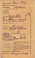 Carte D'Alimentation  Ancienne De  ETTING - Carte D'Alimentation De 1940 / KHIL Katerine - Other Municipalities