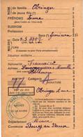 Carte D'Alimentation  Ancienne De  KAHLHAUSEN - Carte D'Alimentation De 1940 / OBRINGER Anne - Otros Municipios