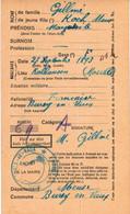 Carte D'Alimentation  Ancienne De  KAHLHAUSEN - Carte D'Alimentation De 1940 / GILLME Marguerite - Otros Municipios