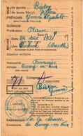 Carte D'Alimentation  Ancienne De  FORBACH - Carte D'Alimentation De 1940 / BISTON Yvonne - Forbach